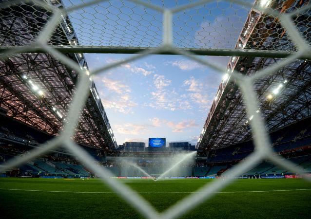 Pole piłkarskie stadionu Fiszt w Soczi