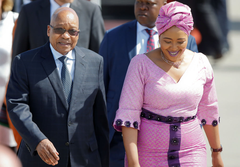 Prezydent Afryki Południowej Jacob Zuma z żoną