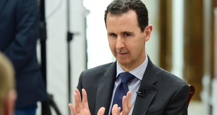 Prezydent Syrii Baszar al-Asad podczas wywiadu