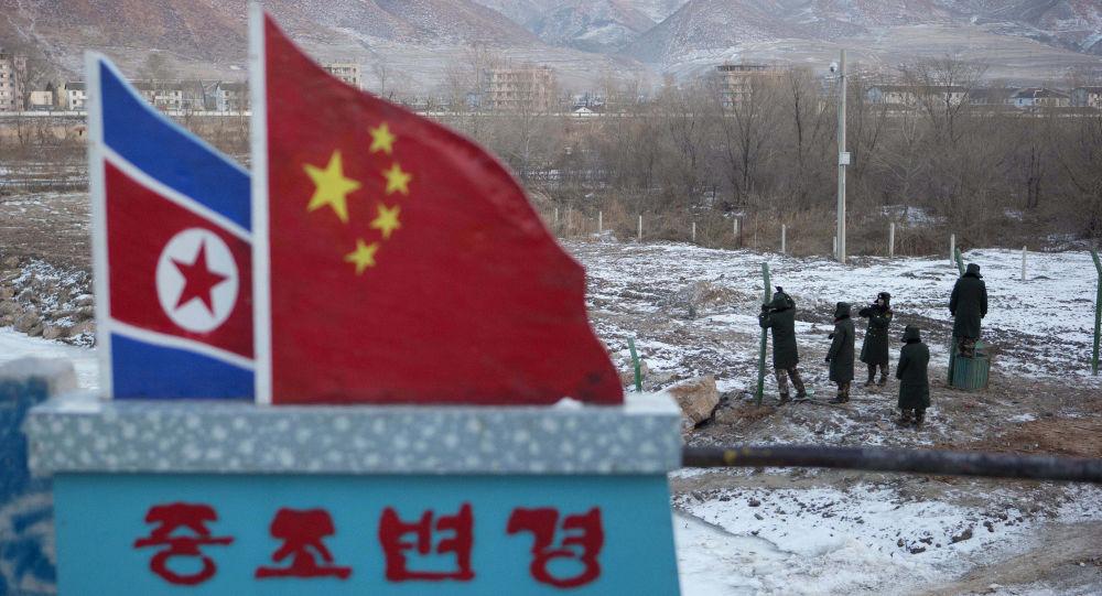 Flagi Chin i Korei Północnej