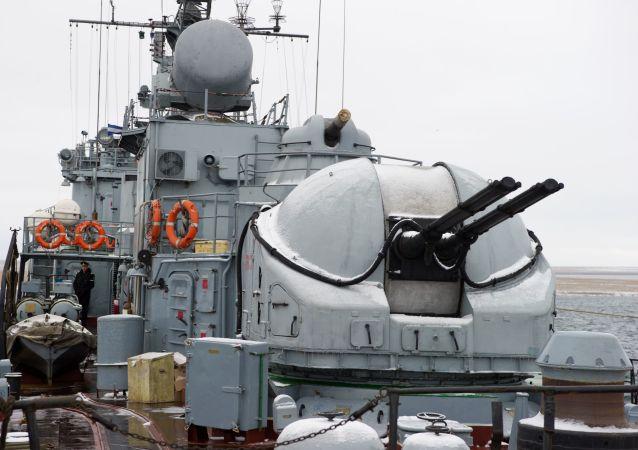 Mały okręt do zwalczania okrętów podwodnych Aleksandrowiec na Krymie