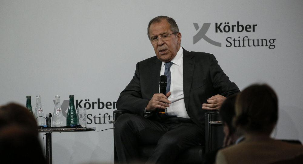 Wystąpienie ministra spraw zagranicznych Rosji Siergieja Ławrowa w Fundacji im. Korbera, Berlin