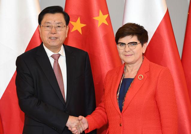 Beata Szydło i Zhang Dejiang