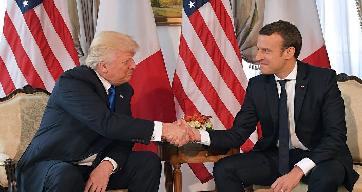 Donald Trump et Emmanuel Macron. Archive photo