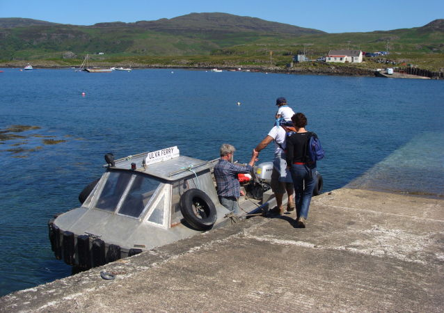 Przystań na wyspie Ulva. Szkocja