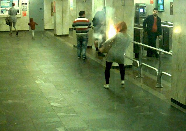 Wybuch e-papierosa w mińskim metrze