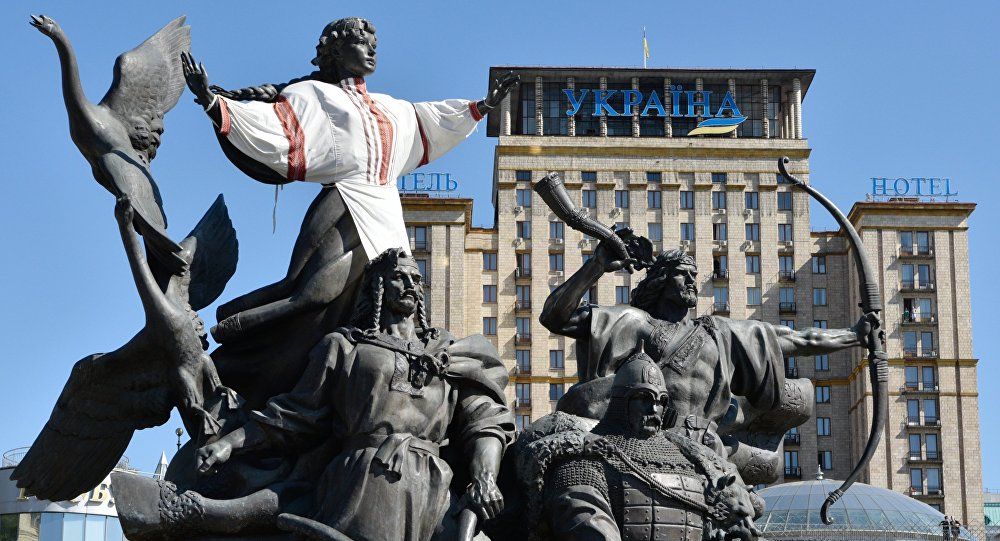 Pomnik na Placu Niepodległości w Kijowie