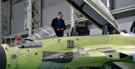 Hala montażowa wielozadaniowych myśliwców MiG-29 w rosyjskiej fabryce samolotów MiG pod Moskwą