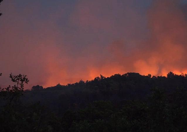 Pożar w Czarnogórze.