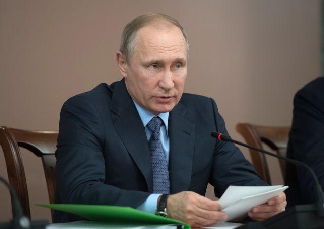 Prezydent Rosji Władimir Putin w czasie wizyty roboczej w Joszkar-Ole
