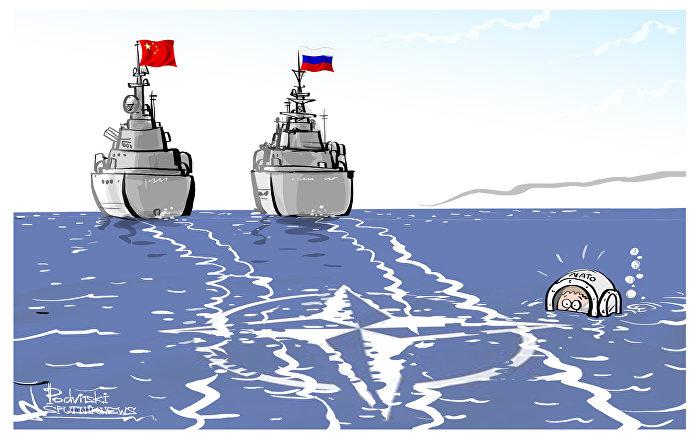 Wspólne manewry morskie Rosji i Chin