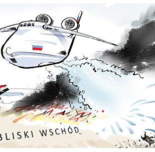 Rosja gasi pożar na Bliskim Wschodzie