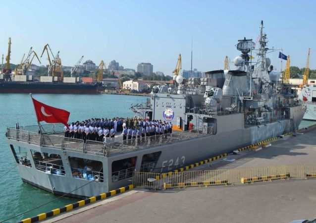 Okręty NATO w porcie Odessy