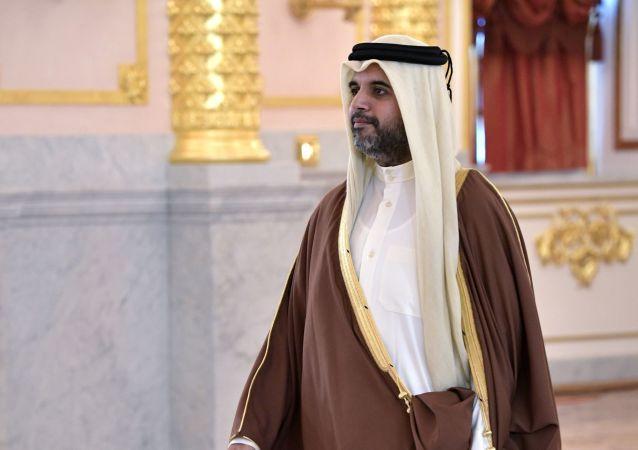 Nadzwyczajny i pełnomocny ambasador Kataru w Rosji Fahad Mohamed al-Attyja na ceremonii wręczenia listów uwierzytelniających na Kremlu