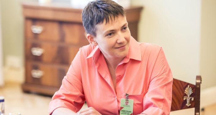 Deputowana do Rady Najwyższej Ukrainy Nadieżda Sawczenko