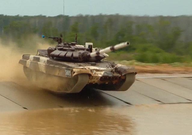 Najlepsze momenty czołgowego biathlonu Army games 2017