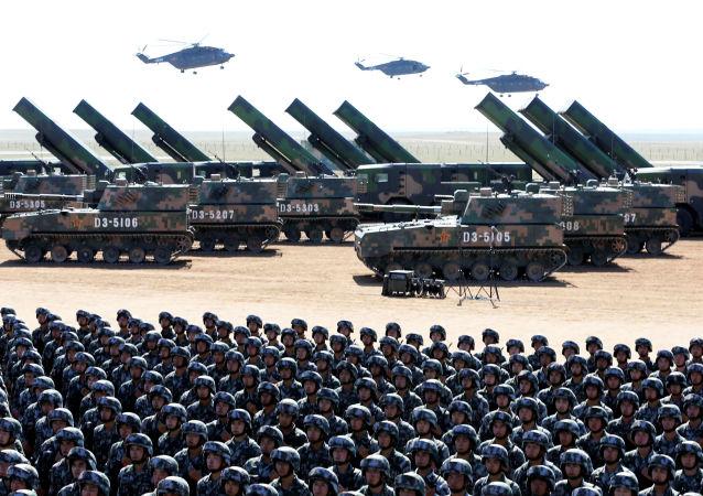 Parada wojskowa z okazji 90. rocznicy utworzenia Chińskiej Armii Ludowo-Wyzwoleńczej.