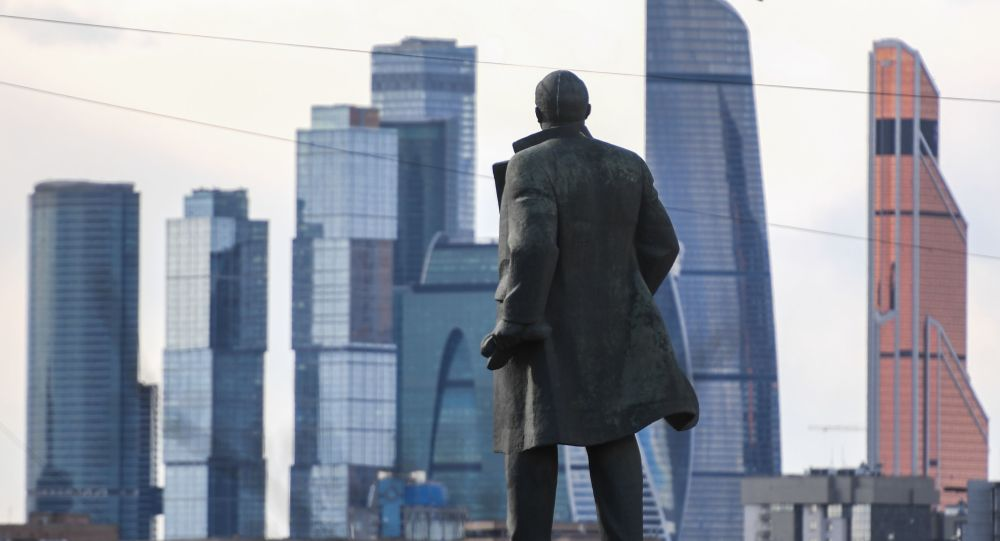 Widok na Międzynarodowe Centrum Biznesowe Moskwa-City