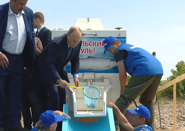 Władimir Putin na Bajkale