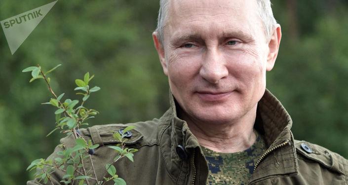 Władimir Putin na urlopie w Republice Tuwa
