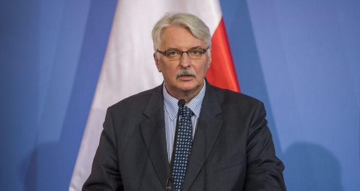 Minister spraw zagranicznych Polski Witold Waszczykowski