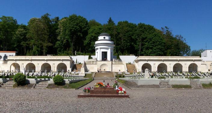 Kaplica-rotunda położona na terytorium polskiego cmentarza wojennego na Cmentarzu Łyczakowskim w mieście Lwów