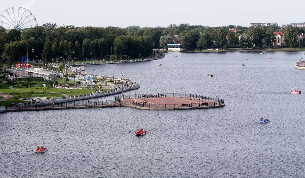 Jezioro Verhnee w Kaliningradzie