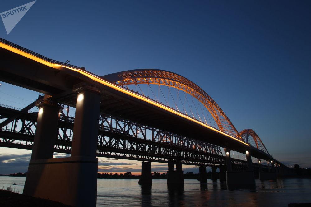 Most przez Wołgę w Niżnym Nowogrodzie