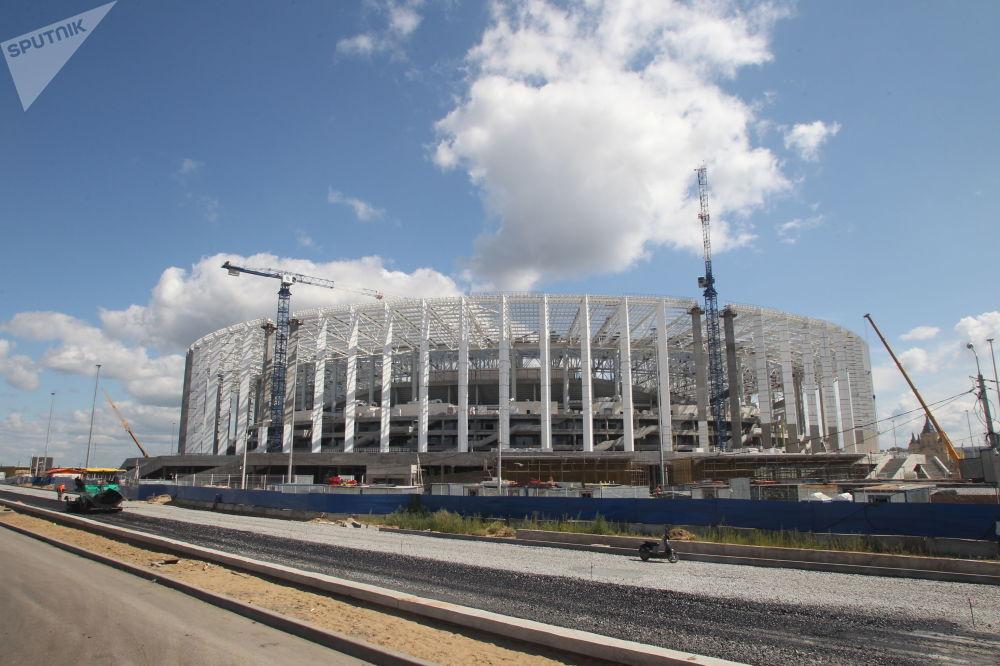 Budowa stadionu Niżny Nowogród na Mistrzostwa Świata w Piłce Nożnej
