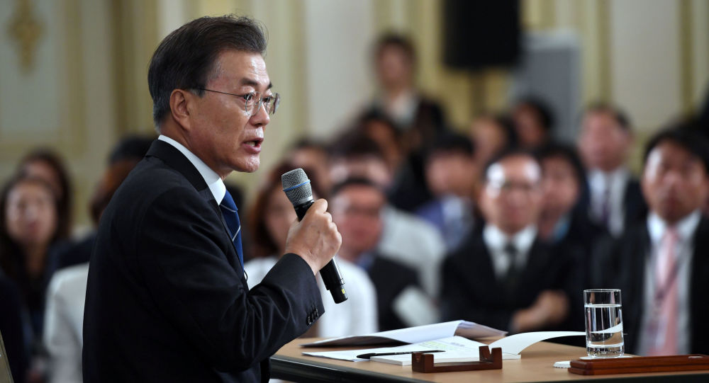 Orędzie prezydenta Korei Południowej Moon Jae-in z okazji pierwszych 100 dni, jakie minęły od objęcia przez niego urzędu