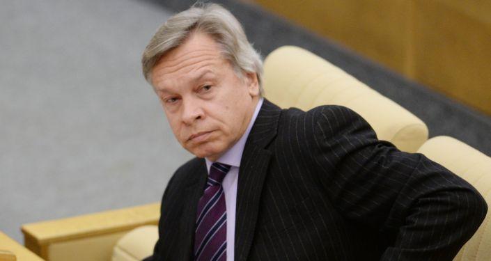 Szef Komisji do Spraw Zagranicznych Dumy Państwowej Aleksiej Puszkow