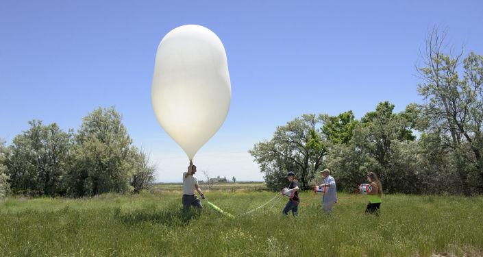 Start balonów w ramach Eclipse Ballooning Project