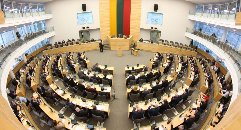 Posiedzenie w litewskim parlamencie