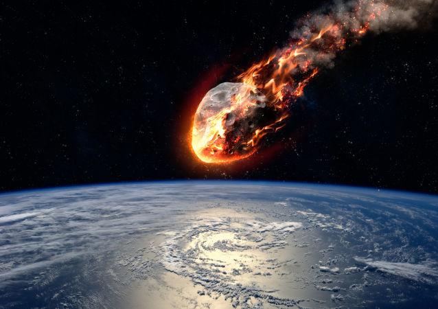 Meteoryt płonący w atmosferze Ziemi