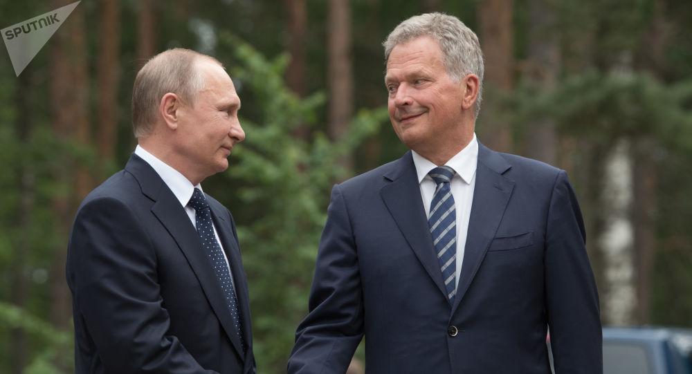 Władimir Putin i Sauli Niinistö