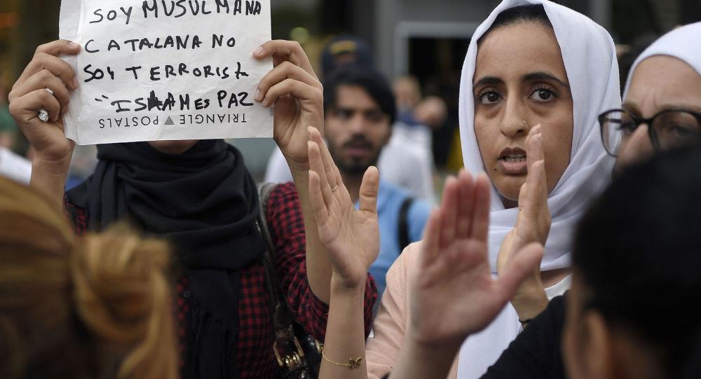 Demonstracje muzułmanów w Barcelonie
