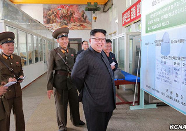 Kim Dzong Un wizytuje instytut materiałów chemicznych