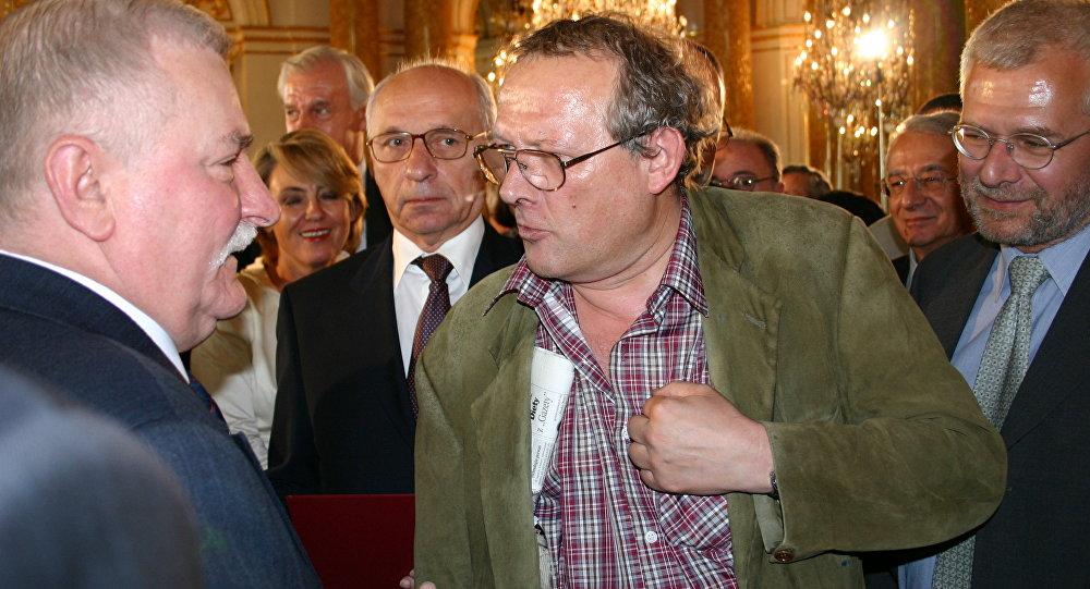 Adam Michnik i Lech Wałęsa. Warszawa