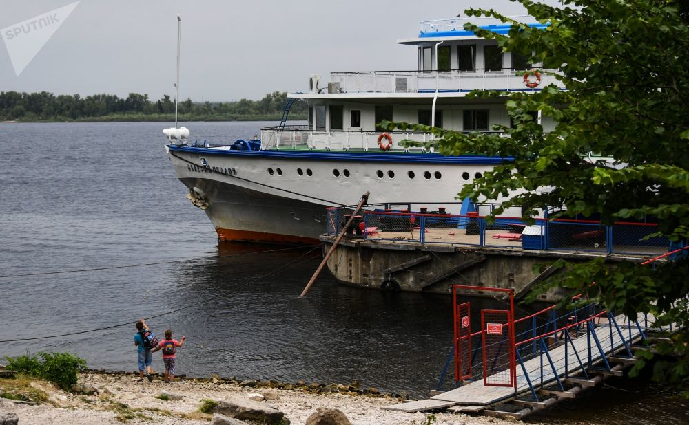 Kuter na Wołdze w rezerwacie Żygulowskim.
