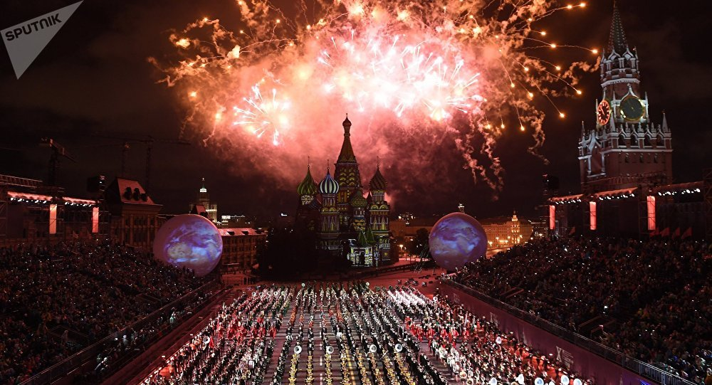 Ceremonia otwarcia 10 edycji festiwalu Spasskaja Basznia w Moskwie