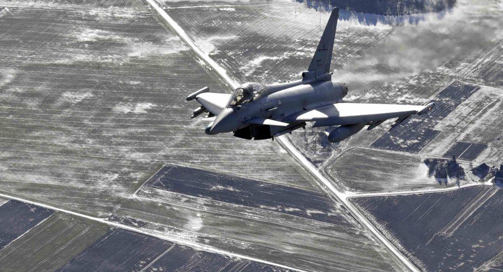 Włoski myśliwiec Eurofighter Typhoon