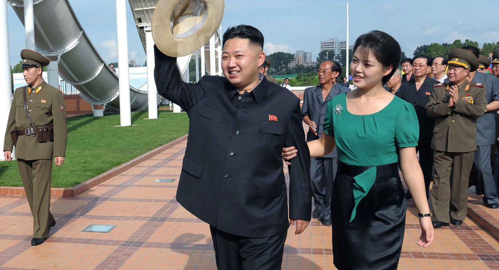 Kim Dzong Un z żoną