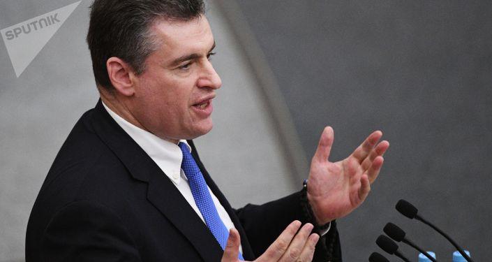 Przewodniczący komisji do spraw międzynarodowych Dumy Państwowej Leonid Słucki