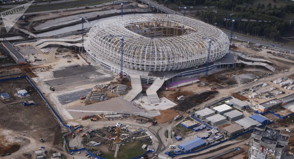 Budowa stadionu Mordowia Arena w Sarańsku