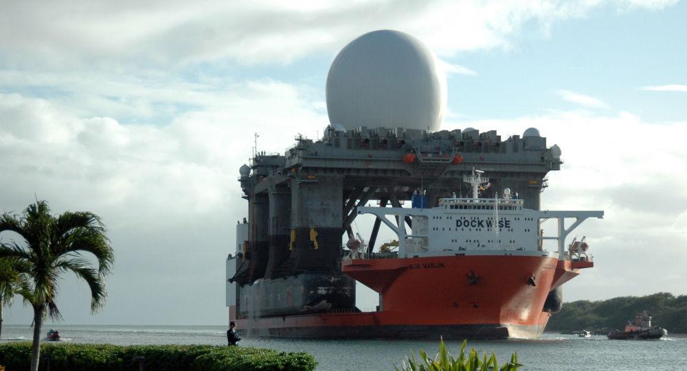 Pływający radar pasma X w Pearl Harbour