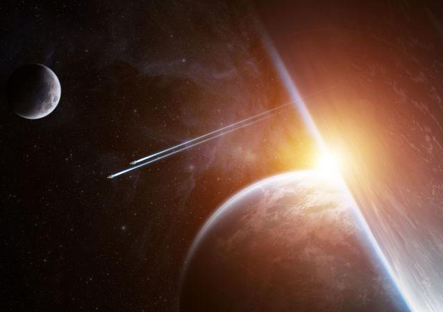 Dwie planety w kosmosie