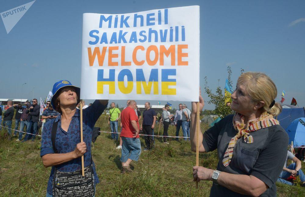Przejście Krakowiec na ukraińsko-polskiej granicy, gdzie zamierza przekroczyć granicę były prezydent Gruzji Michaił Saakaszwili
