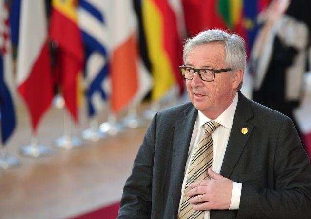Przewodniczący Komisji Europejskiej Jean-Claude Juncker w Brukseli