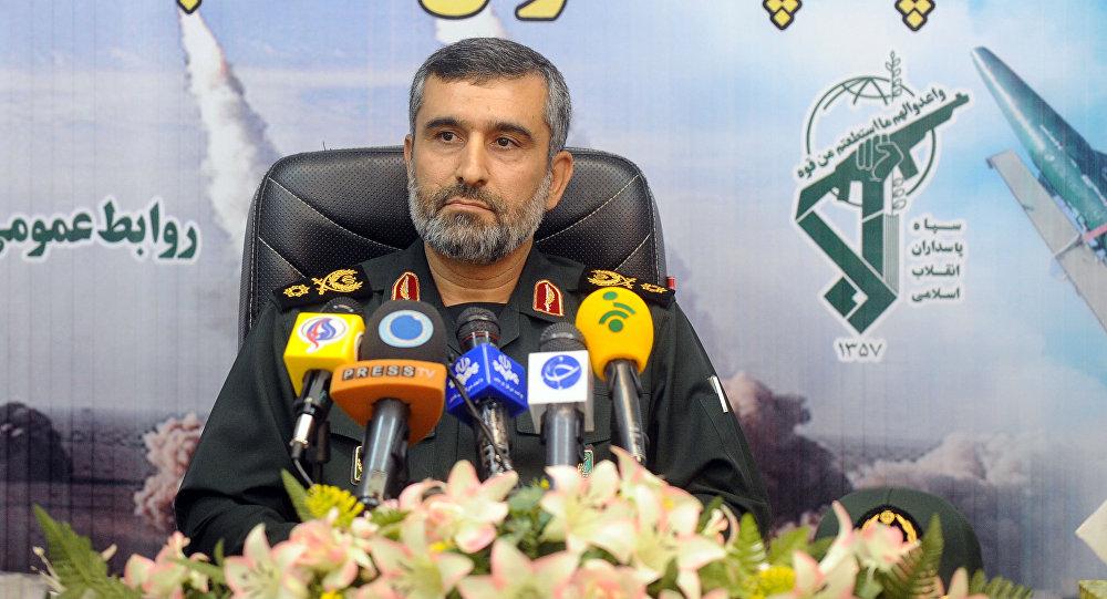 Dowódca Sił Powietrznych Korpusu Strażników Rewolucji Islamskie generał Amir Ali Hadżizade