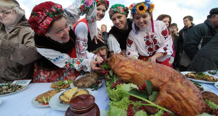 Święto wieprzowiny w Mirgorodzie, Ukraina